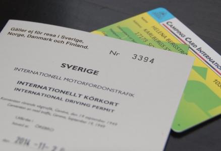 Internationellt körkort och internationellt campingkort