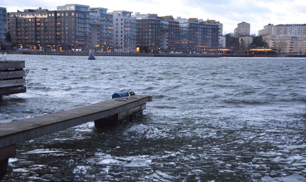 Isflak Ulfsundasjön