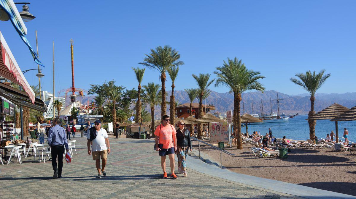Strandpromenaden i Eilat