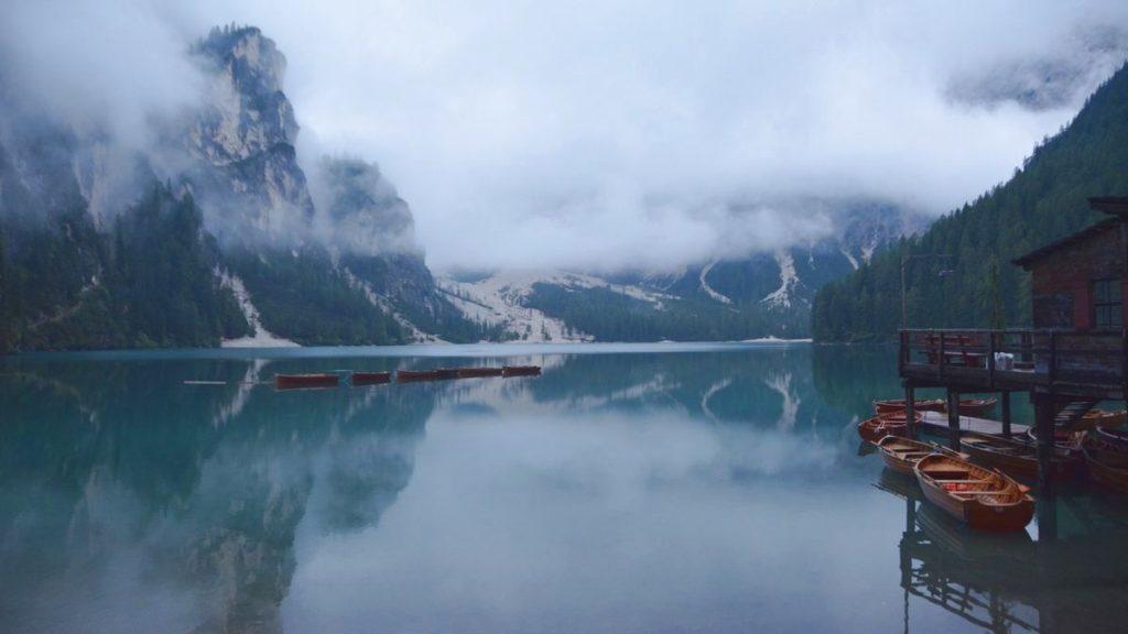 Italien lago di Braies