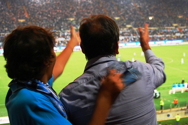 """Italiensk fotbollspassion. (""""Italian soccer passion"""" by Seth Sawyers licensed with CC by 2.0)"""