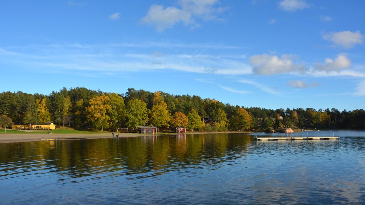 Jogersö havsbad i oktober
