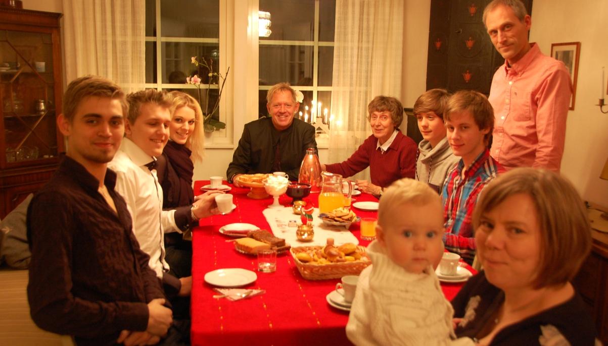Julfirande med familjen och svensk julmat
