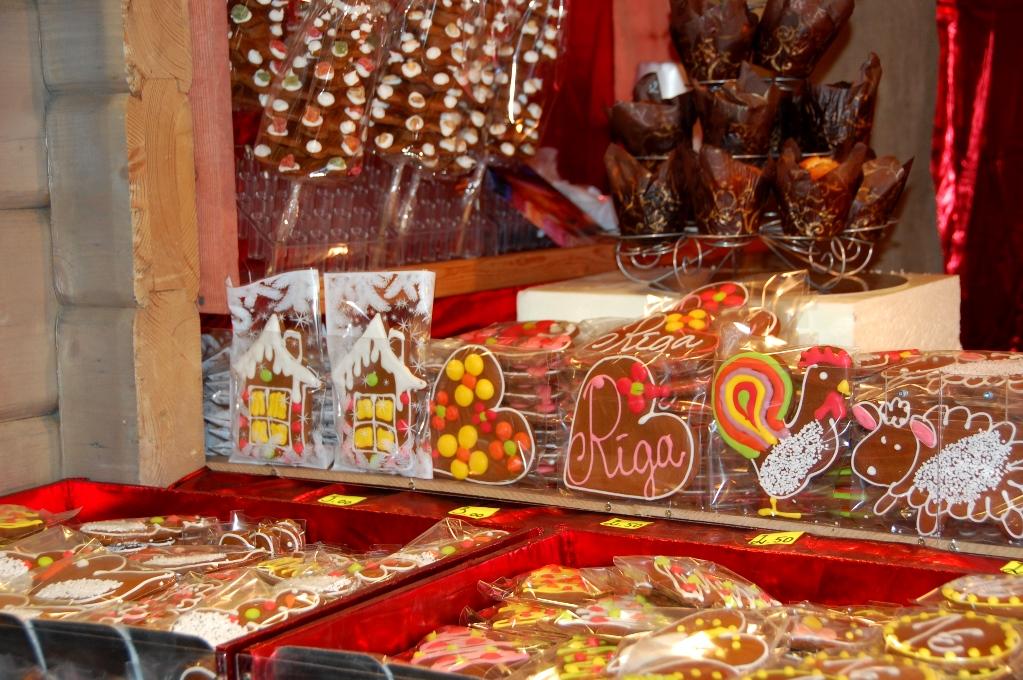 Pepparkakor på en av Rigas julmarknader