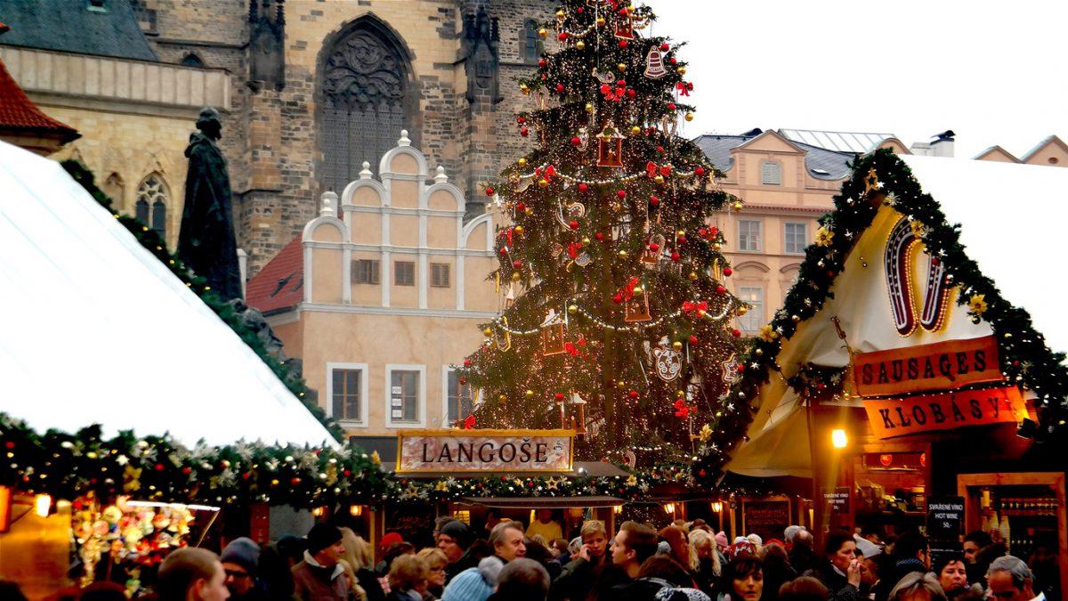 Julmarknad i Prag