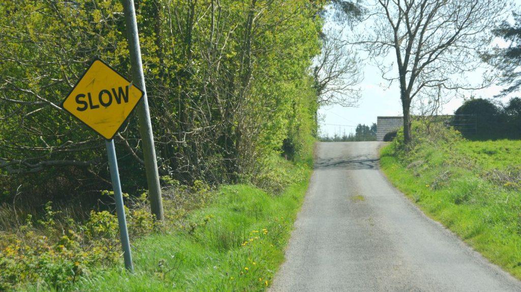 Kör långsamt