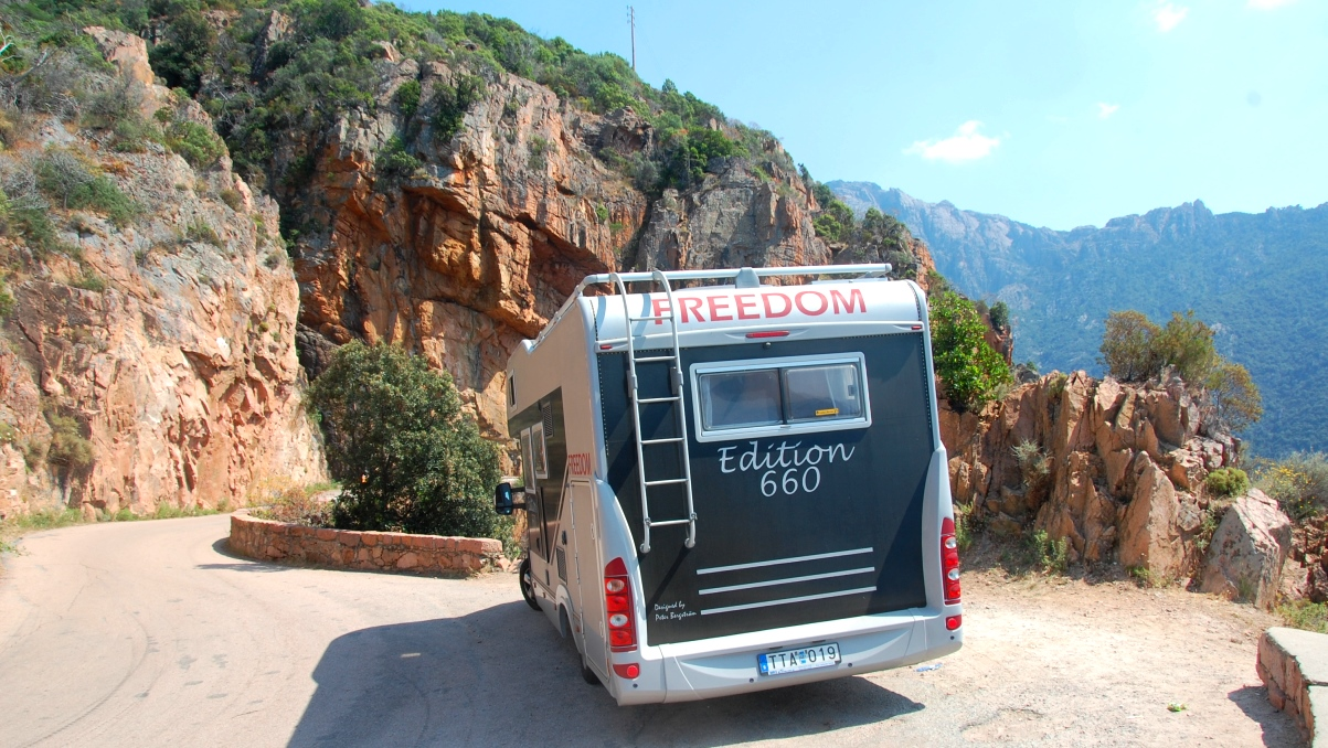 Köra husbil på Korsika