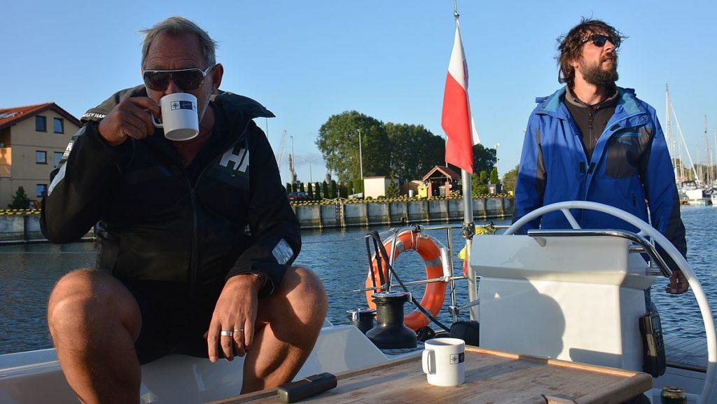 kaffe innan avfärd mot Oderlagunen