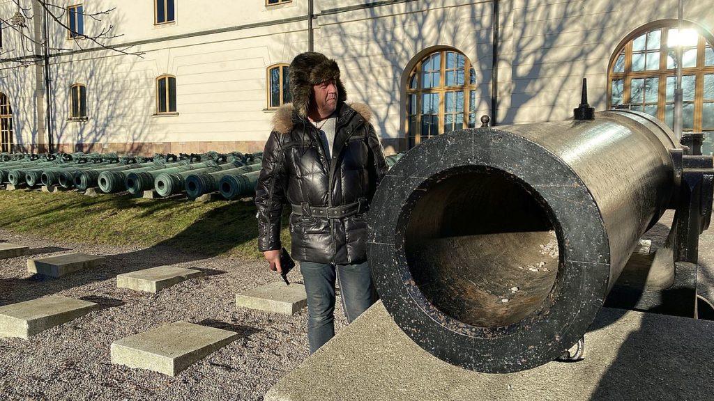 Peter på Armémuseum i Stockholm