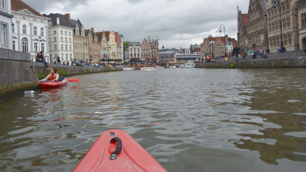 Att göra i Gent - paddla kajak