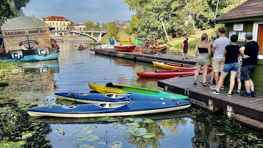Paddla kanot i Wroclaw i Polen