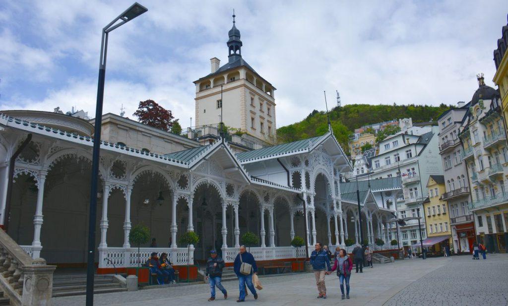 Dricka brunn i Karlovy Vary