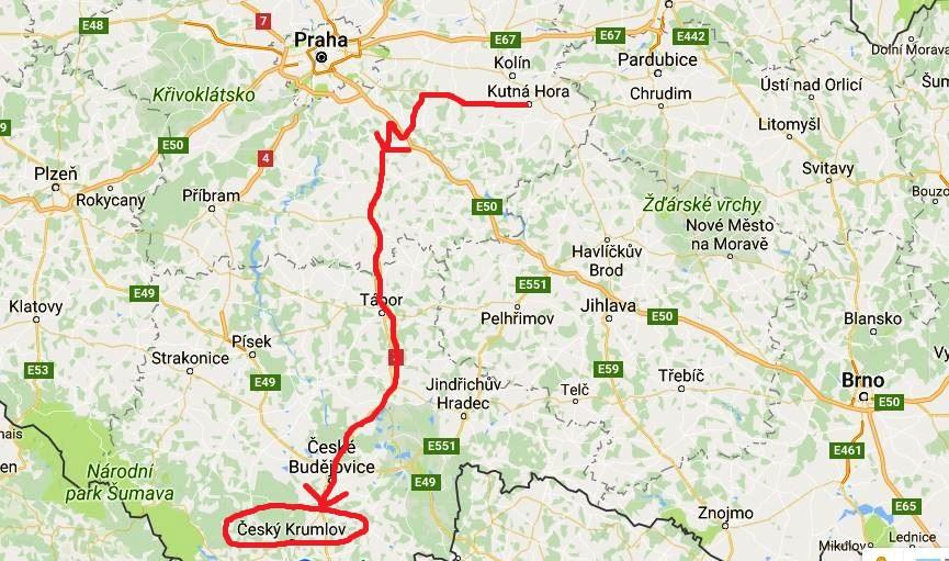 Karta Tjeckien