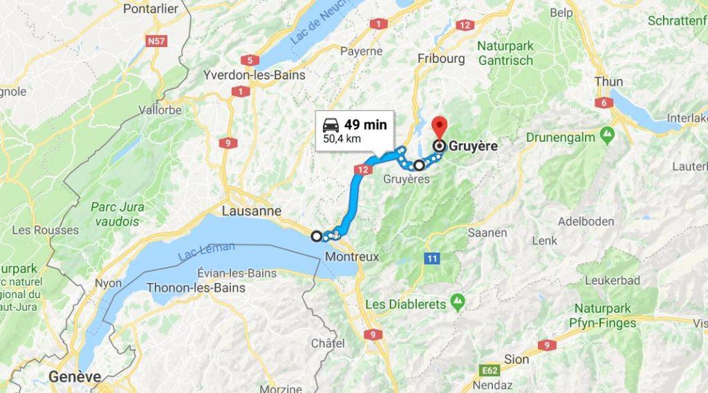 Till Gruyère i Schweiz