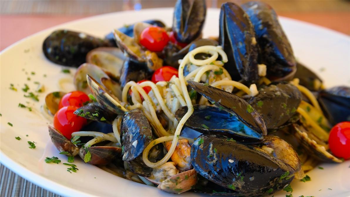 Spaghetti med musslor