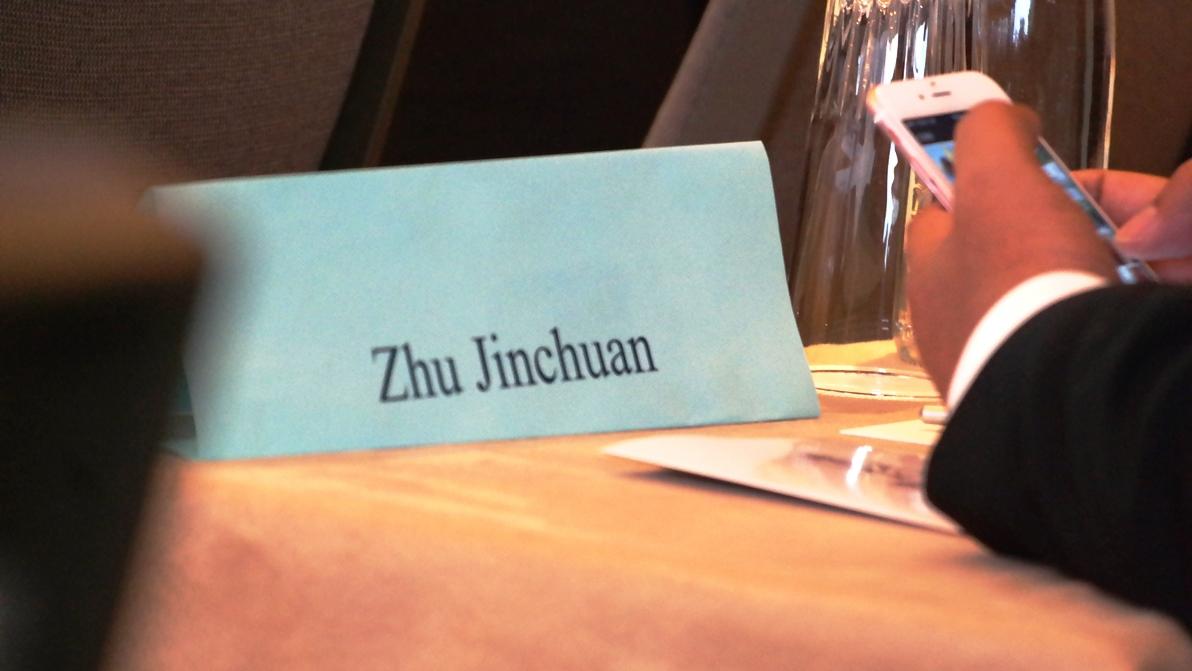 Många kineser var på plats med namnskylt