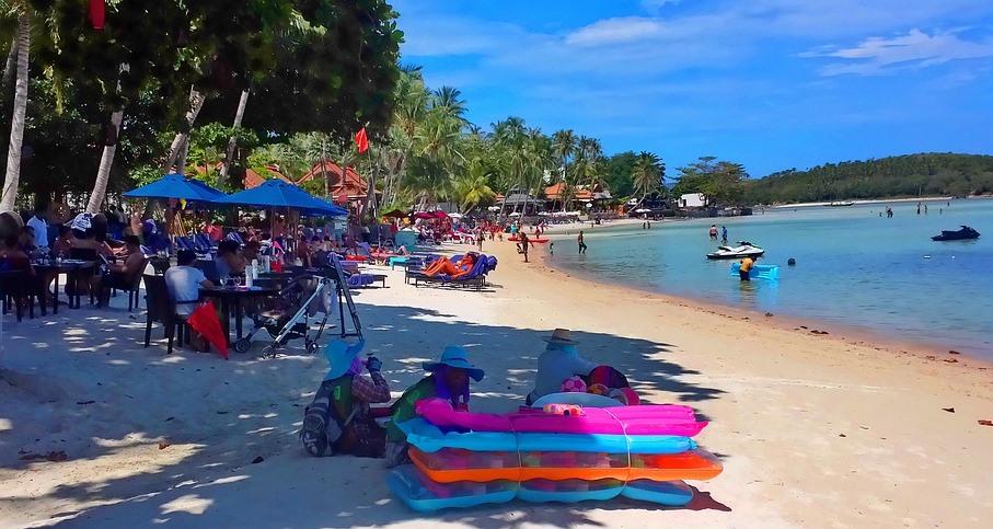 Strand på Koh Samui