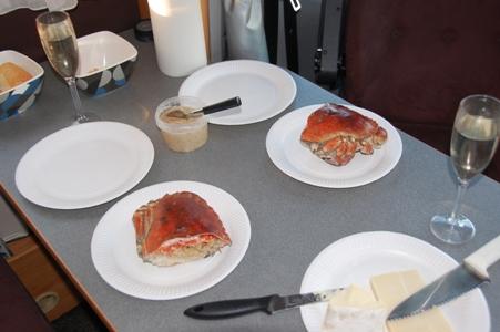 Fredagkväll i Göteborg med krabba