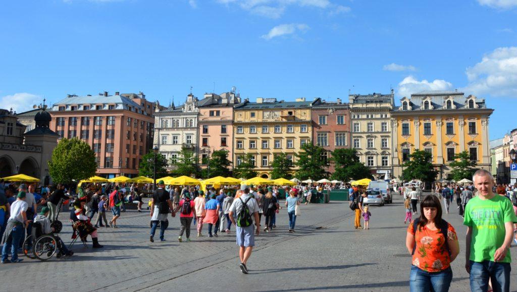 Stora torget i Krakow