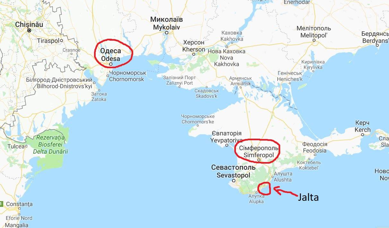 Odessa och Krimhalvön