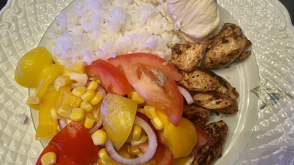 Nya matvanor - kyckling, ris och grönsaker