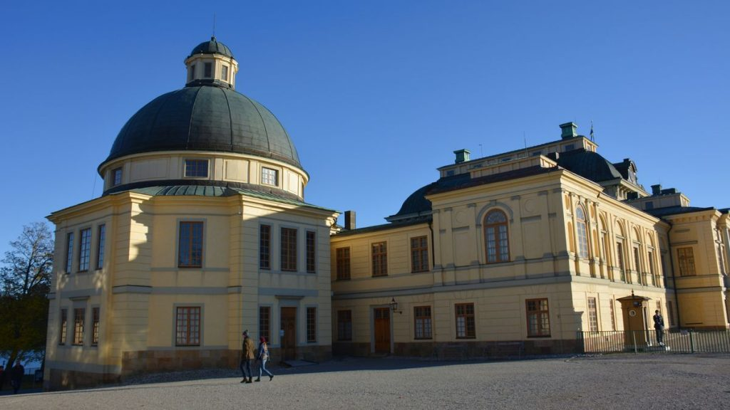 Kyrka Drottningholms slott i Stockholm