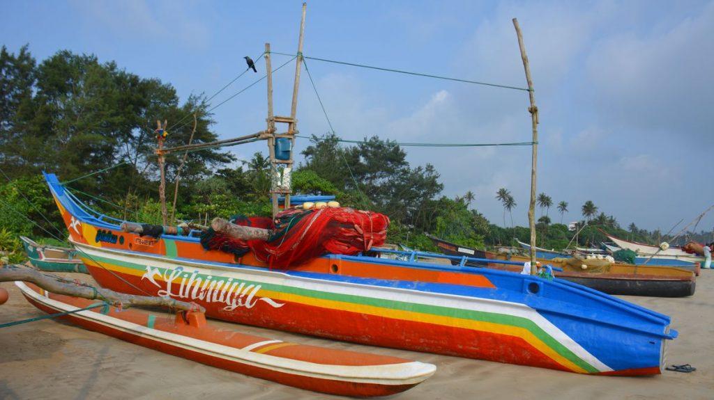 Weligama båtar