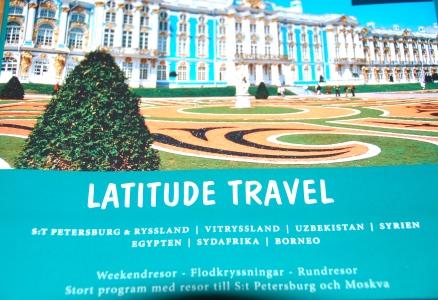 Latitude Travel hade resor till flera intressanta resmål: St Petersburg, Uzbekistan, Syrien... Den här broschyren ska vi titta närmare i. Om inte annat så för att få lite idéer.