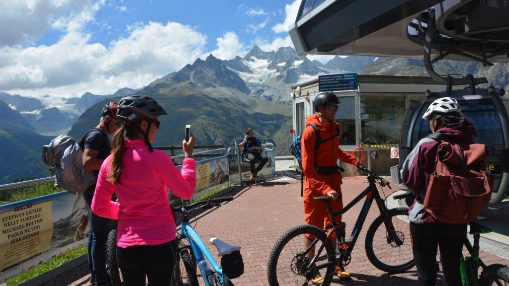 Naturupplevelser i Schweiz - cykla i Zermatt