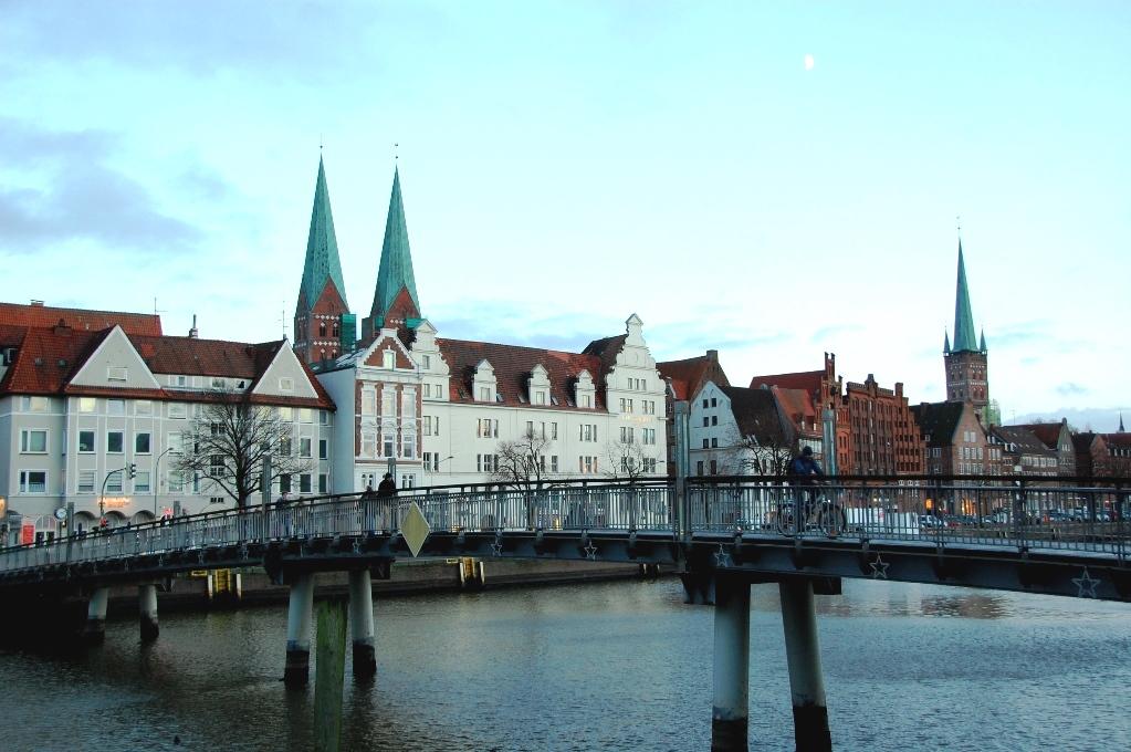 Hansa- och hamnstaden Lubeck i Tyskland