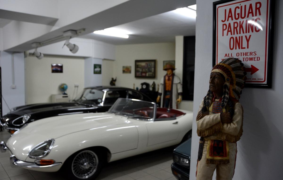 Parkering för jaguarer