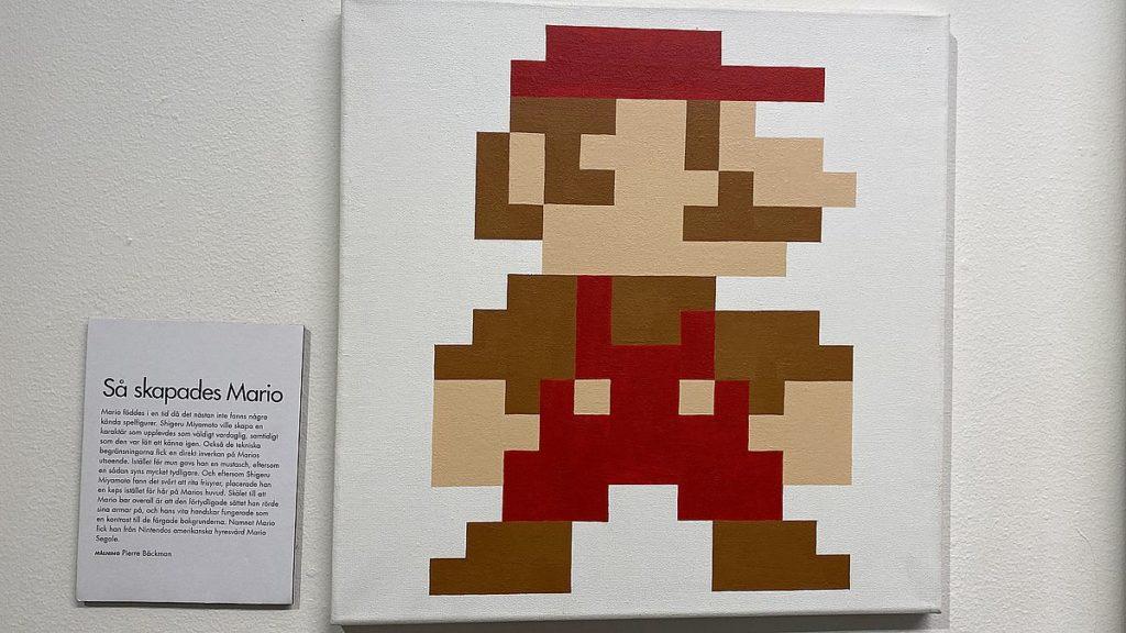 Mario på Stockholms spelmuseum