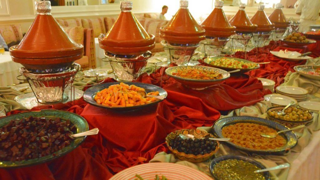 Marockansk buffé på restaurang Taj Mahal