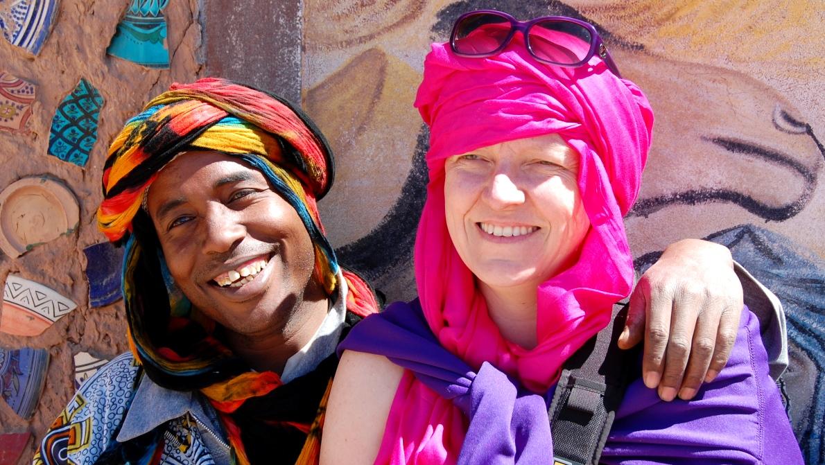Porträtt med mycket färger (Marocko 2014)