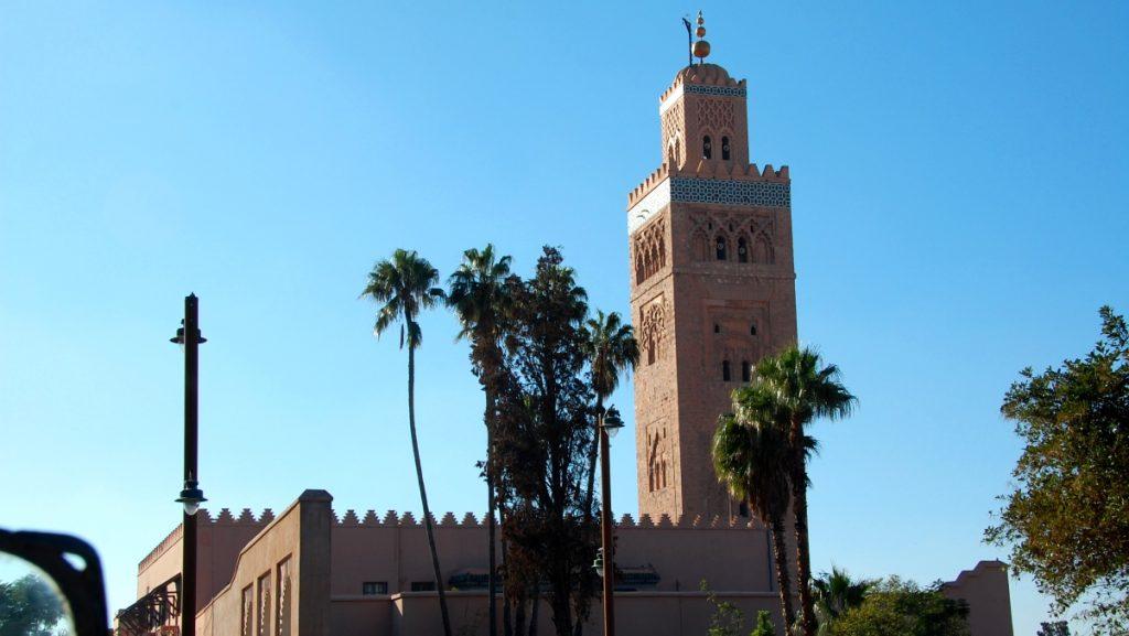 Koutoubia-moskén (man får inte gå in om man inte är muslim)
