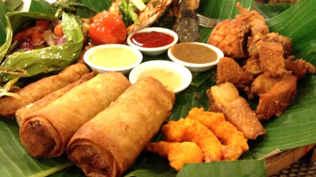 Exotisk mat på en restaurang i Filippinerna - känner du dig irriterad ...?