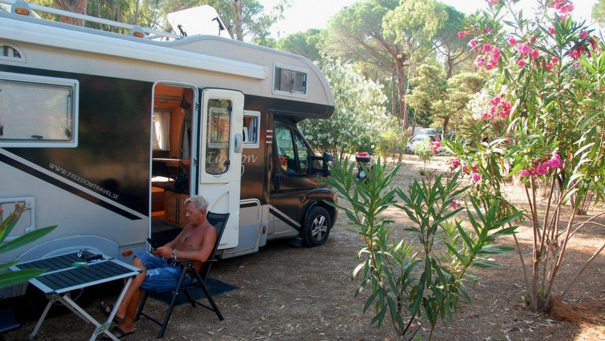 Med husbil på Sardinien