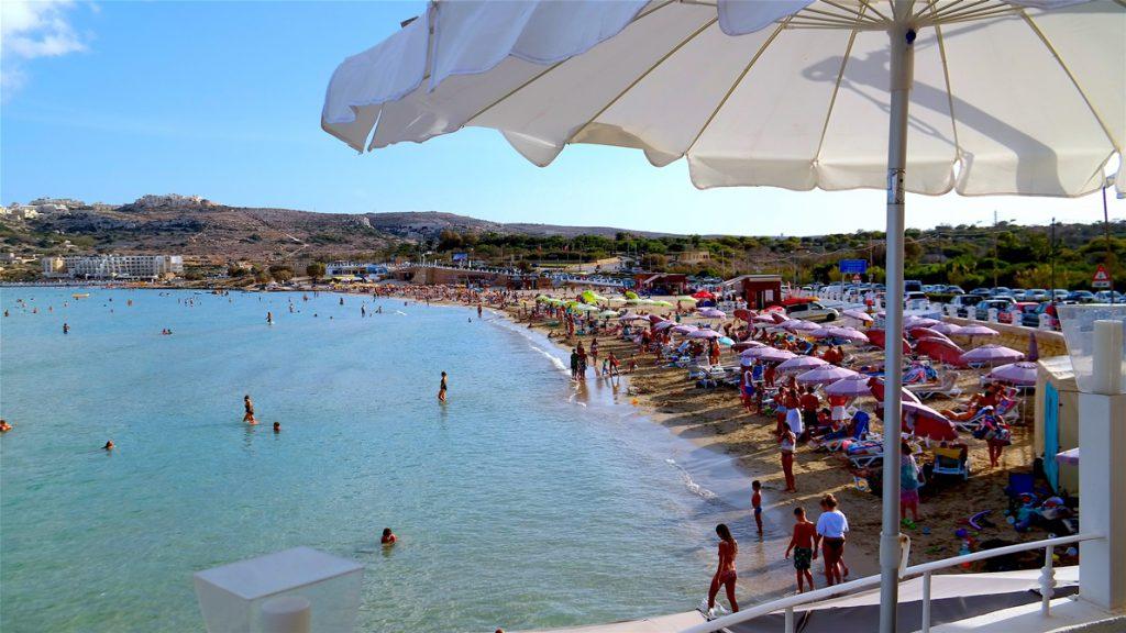 Mellieha bay på Malta