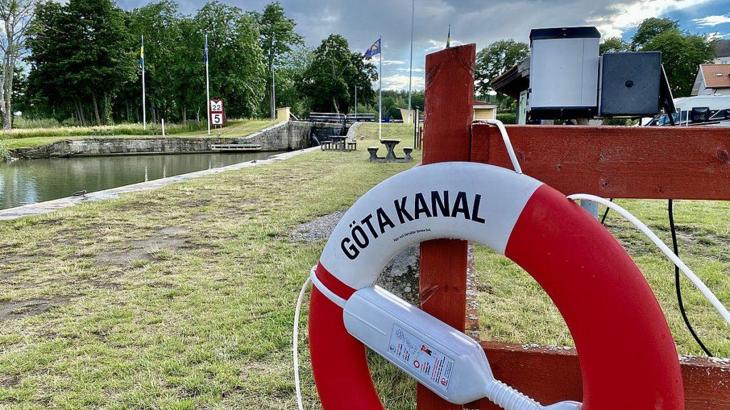 Göta kanal med husbil - Mem