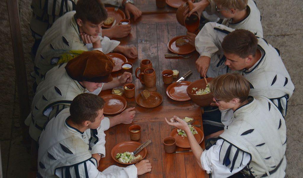 Måltid i Rakvere fästning i Estland