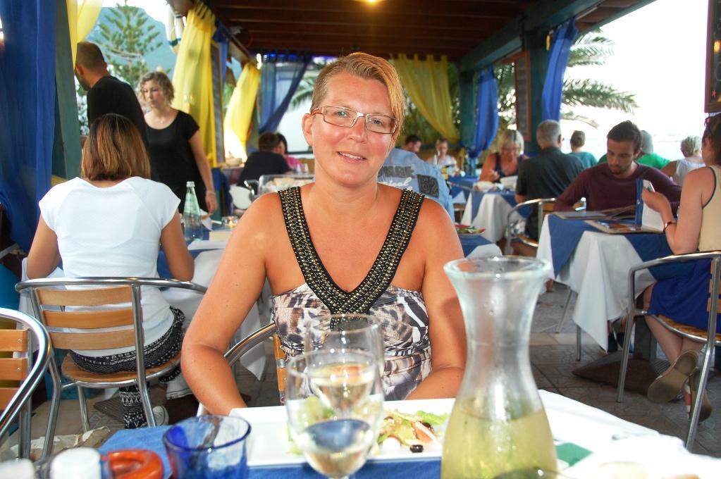 Middag på restaurang på min 40-årsdag - en ovanlig lyx under vår resa