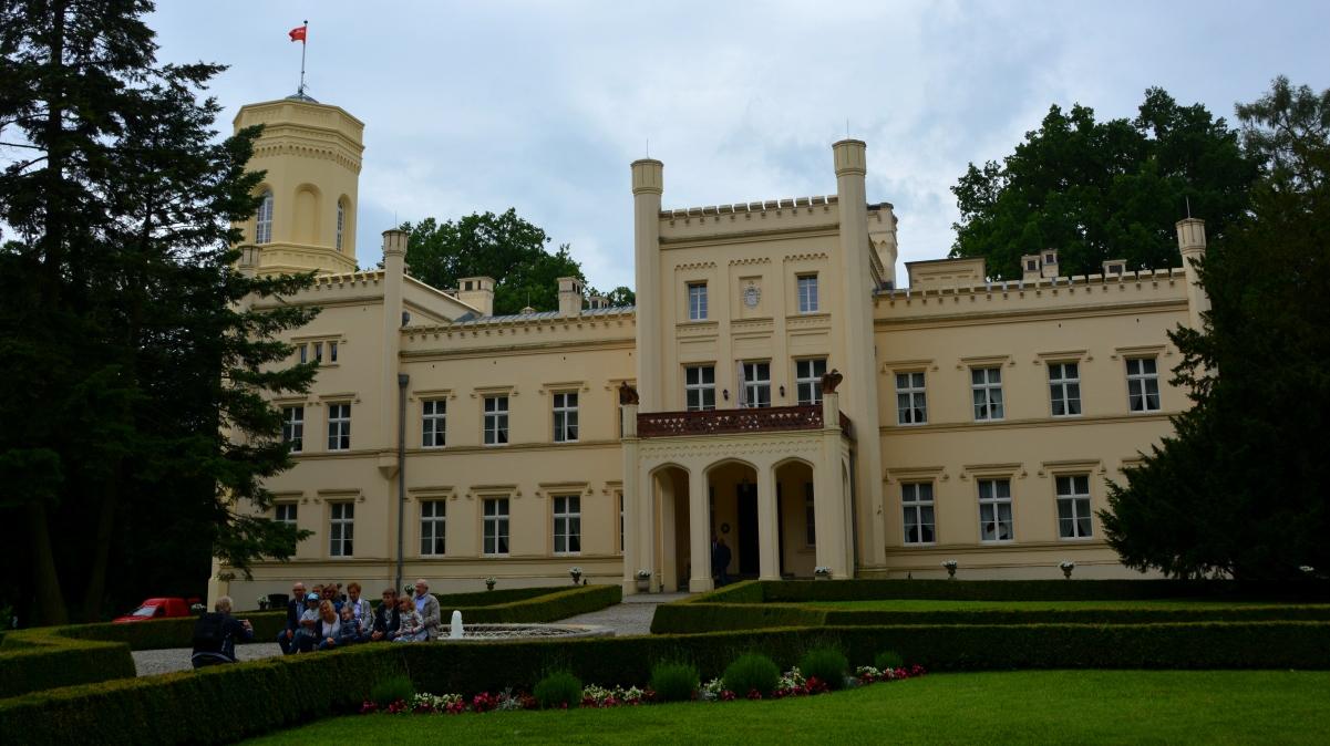 Mierzecin-slott i Polen med magisk natur