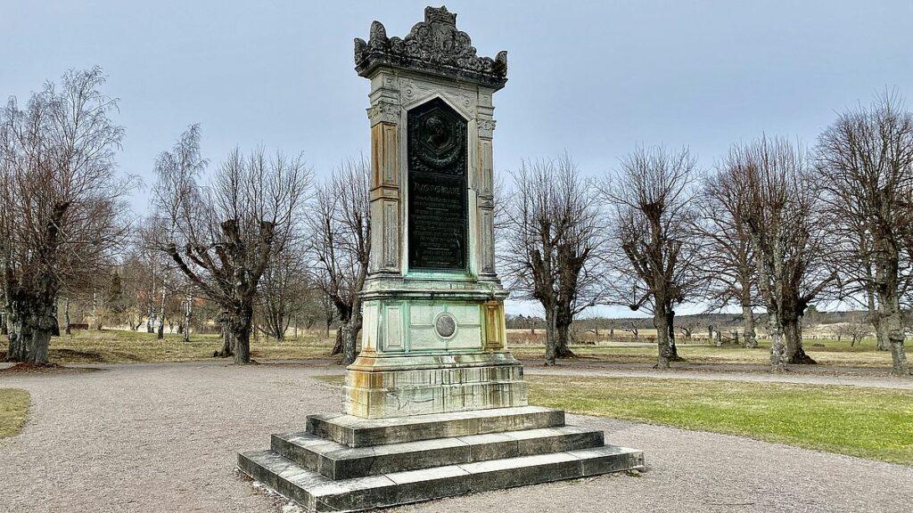 Monument vid Skokloster slott