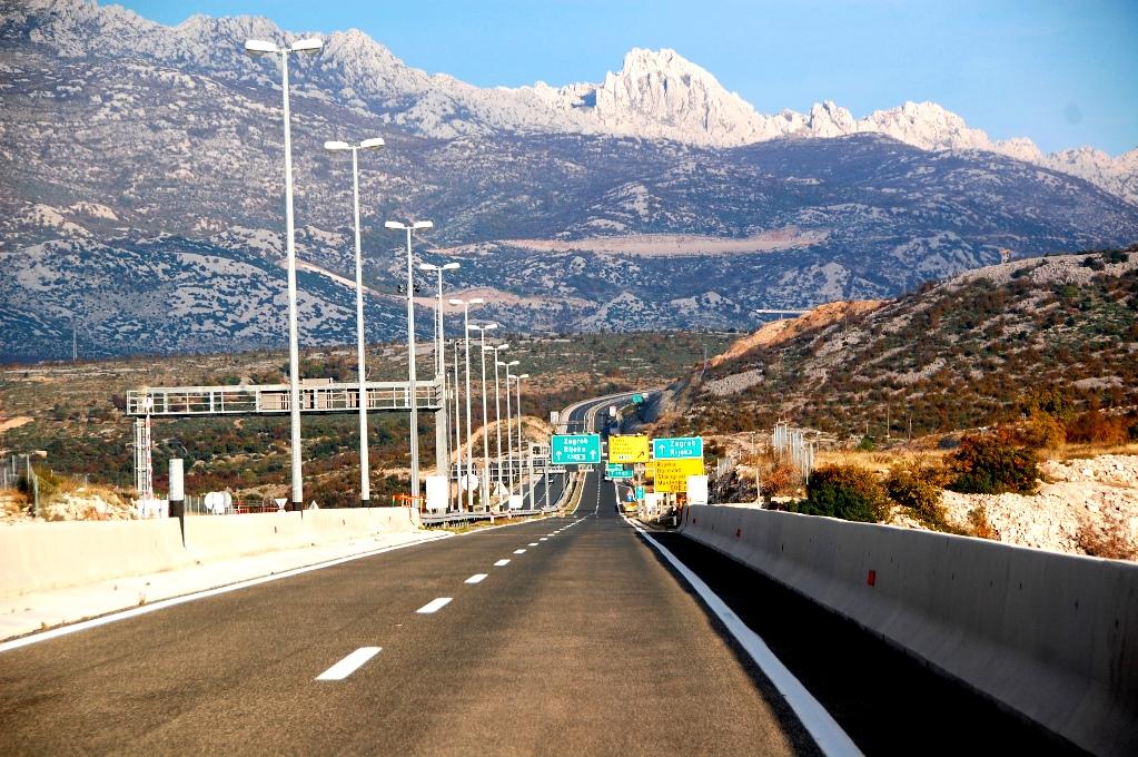 På motorvägar genom Kroatien