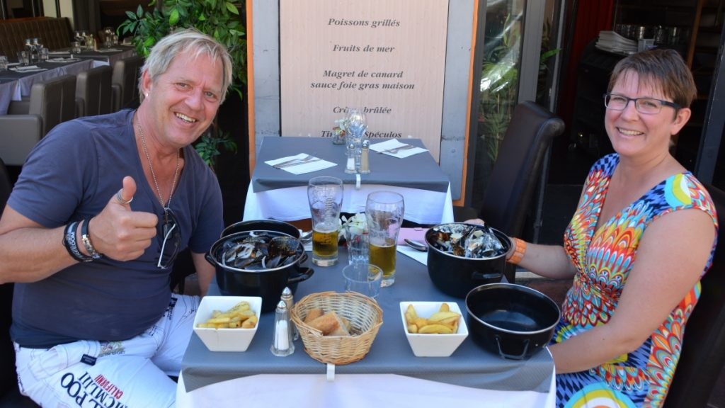 Moules frites i Nice