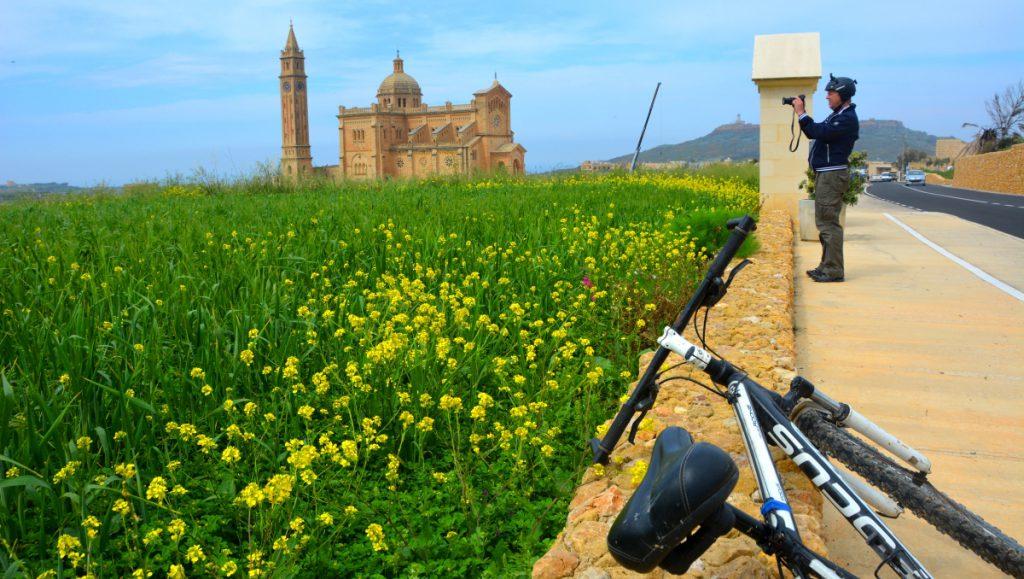 Med mountainbike på Gozo