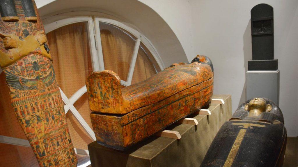 mumier på Slottet Kynžvart i Tjeckien