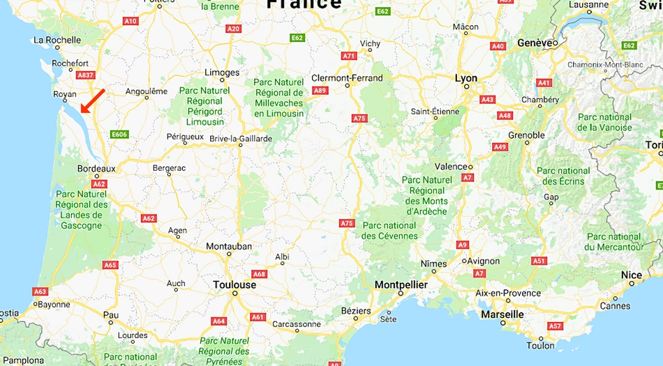 Frankrike, Mortagne sur gironde