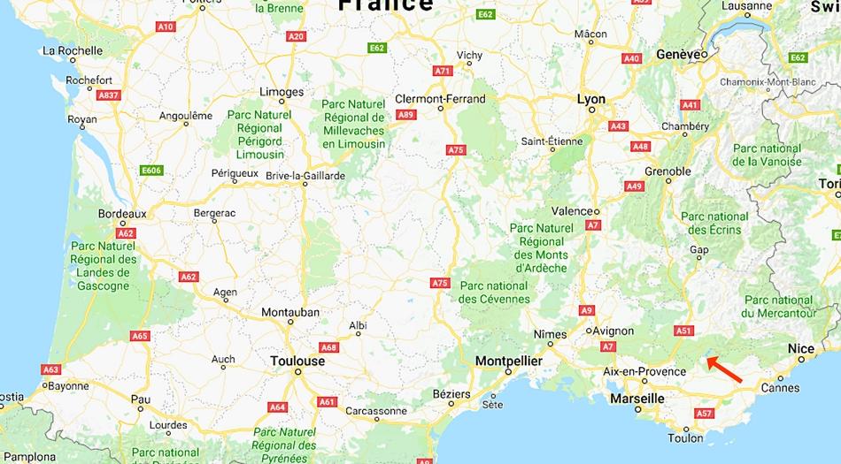 Frankrike, Aiguines