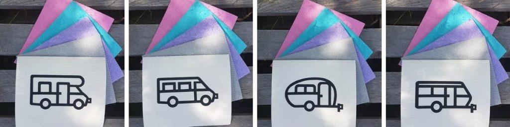 Disktrasa med husbil eller husvagn